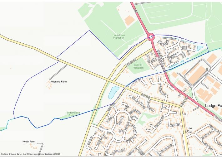 Harlestone Manor Map